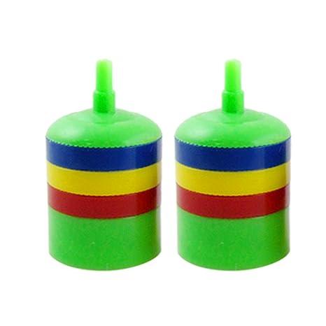 Sourcingmap Plástico Pez Acuario Bomba de Aire de Colores Piedra, Verde, 2 Piezas