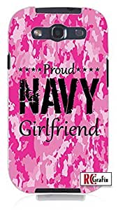 Cool Painting The Best Camo Pink Proud Navy Military Girlfriend Camouflage Direct UV Printed Unique Quality Soft Rubber Case for Samsung Galaxy S4 I9500 - White Case