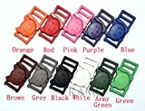 110pcs Colorful 3/8'' Safty Breakaway Buckles for Cat Collar