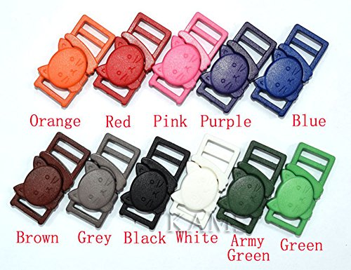 110pcs Colorful 3/8'' Safty Breakaway Buckles for Cat Collar by sacoora