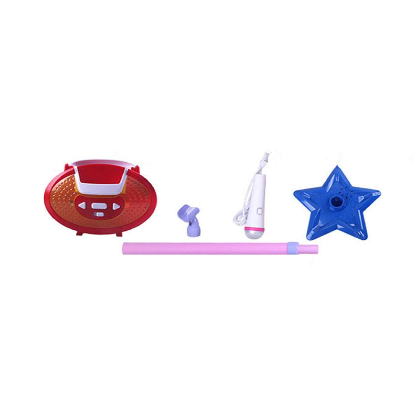 Putars Kids Girls Mp3 KaraokeMicrophone Adjustable Stand Light Sound,Music Sing Along with Flashing Stage Lights and Pedals for Fun,Microphone and Mic Stand - Online Exclusive by Putars toy (Image #3)