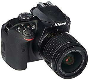 Nikon D3400 Digital SLR Camera & 18-55mm VR DX AF-P Zoom Lens (Black) - (Renewed)