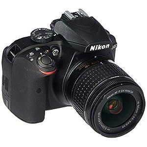 515jUBS FKL. SS300  - Nikon D3400 Digital SLR Camera & 18-55mm VR DX AF-P Zoom Lens (Black) - (Renewed)