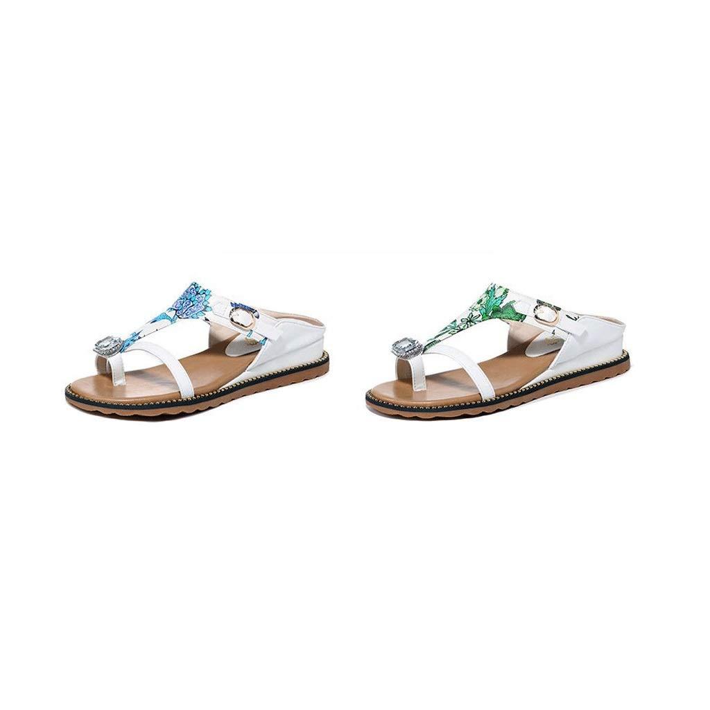 vert Chaussures de Plein air Confortables pour Femmes avec avec Chaussures à Semelles épaisses en Plein air, été (Couleur   bleu, Taille   9us)  haute qualité générale
