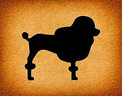 Amazon.com: Rustic Poodle Silhouette Print for Vintage Wall Art ...