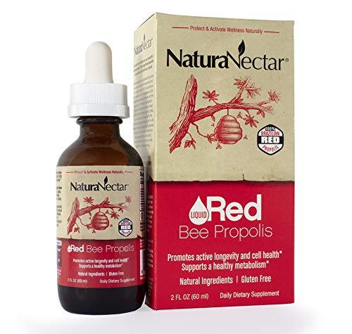 NaturaNectar Liquid Red Propolis Drops, A Hint of Spearmint, 2 FL Ounce ()