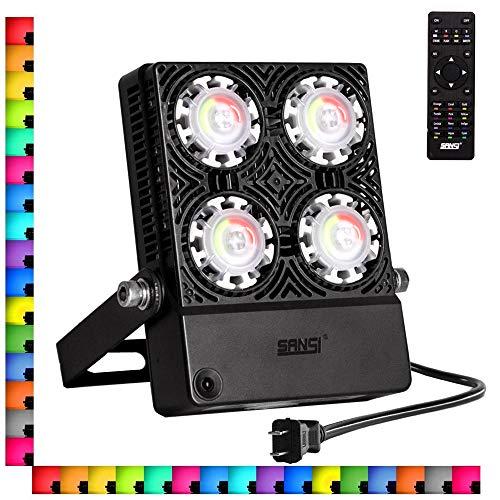 SANSI 30W LED RGB Flood Light, IP66 Waterproof,