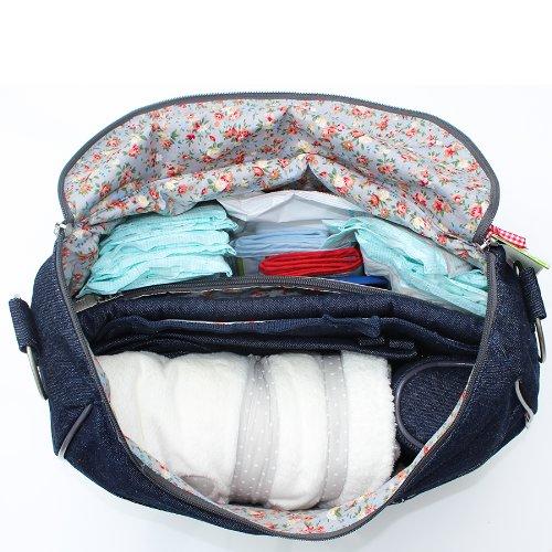 Minene 9675 Layla Wickeltasche, Jeans