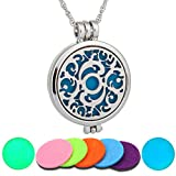 ULAKY Life Tree Hollow Aromatherapy Essential Oil Diffuser Necklace Locket Pendant Jewelry