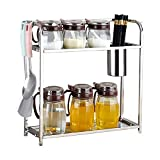 2-Layer Kitchen Counter Storage Rack for Seasoning Cans, Etc. 30 14.5 40Cm