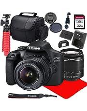 Canon EOS 2000D / Rebel T7 DSLR Camera w/ 18-55mm F/3.5-5.6 III Lens + 32GB SD Card + More