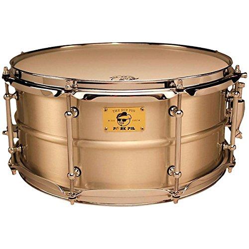 Pork Pie Pig Iron Snare Drum 14x6.5 in. Tin Plated Satin