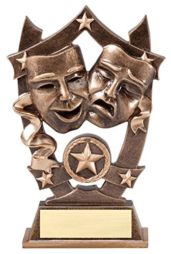 Decade Awards Drama 3D Gold Sport Stars Trophy   Star Theater Award   6.25 Inch Tall - Customize Now