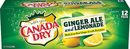 Canada Dry Ginger Ale and Lemonade, 12 Fluid Ounce Can, 12 Count