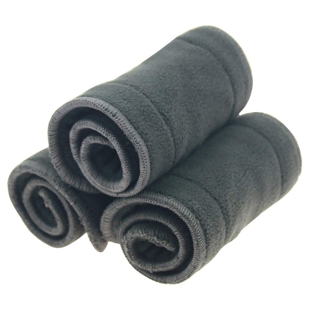 prodotti per bambini premuroso neonato Pannolini riutilizzabili morbida 5 strati del carbone di bamb/ù Inserti per Baby Cloth Diaper alta Absorbing lavabile Liners 3Pcs