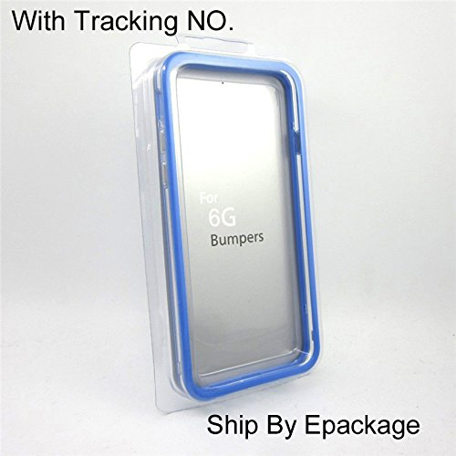 Soft TPU Bumper Frame Case Cover Side Protection for Iphone 6 4.7 Inch Case for Iphone 6 4.7inch (Blue) (Tpu Frame)