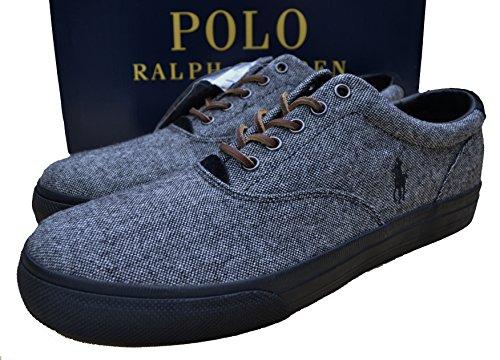 Ralph Lauren - Zapatillas de Lona para hombre negro negro jaspeado