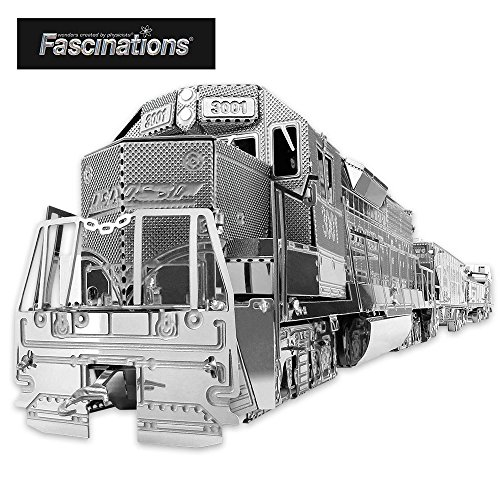 Fascinations Metal Earth Freight Train Box Gift Set 3D Metal Model (Kit Freight)