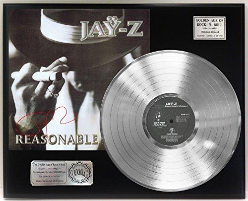 "JAY Z REASONABLE DOUBT PLATINUM LP LTD SIGNATURE RECORD DISPLAY ""C3"""