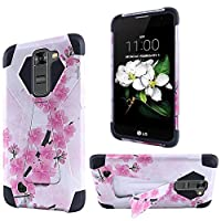 HR Wireless Cell Phone Case for LG K7 - Retail Packaging - Sakura Cherry Blossom Exotic Floral