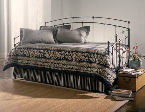 ioneyes-fenton-complete-metal-daybed-with-spindle-panels-and-link-spring-black-walnut-finish-twin