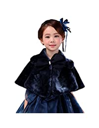 Lemonkids New Vogue Faux Fur Lolita Gilrs Cape Poncho Shawl for Formal Dress
