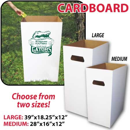 Reusable, Recyclable and Disposable Trash Cans, Sturdy Cardboard - (6) Medium Size - SET OF 6 - Corrugated Trash Receptacle