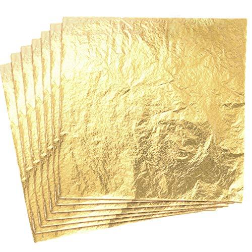 ULTNICE Gold Sheets Imitation Gold Sheets for Craft Crafts 100 Sheets