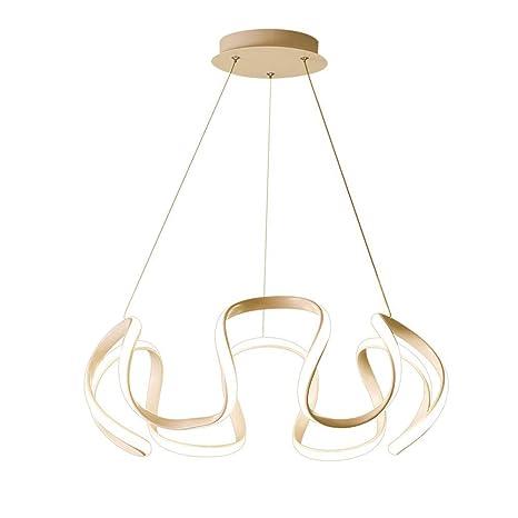 Lámpara de Araña Lámpara de techo Moderno ola Curva Diseño ...