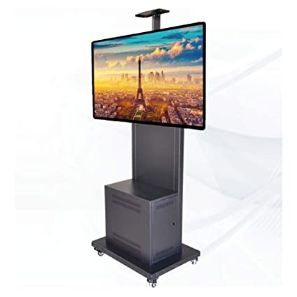 XUE Rolling TV Cart Universale TV Cart Mobile TV Mount con Ruote e ...