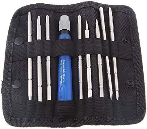 9点セット 精密ドライバ スマホ修理 開腹工具 専門バッグ付き