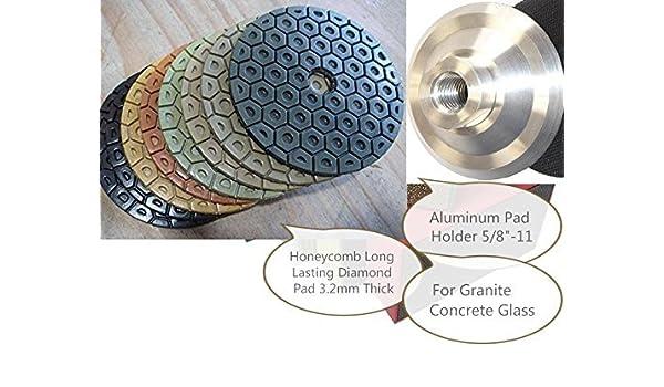 "4/"" Diamond Polishing Pad 54 PCS Grit 50 100 200 400 6000 Granite Concrete Glass"