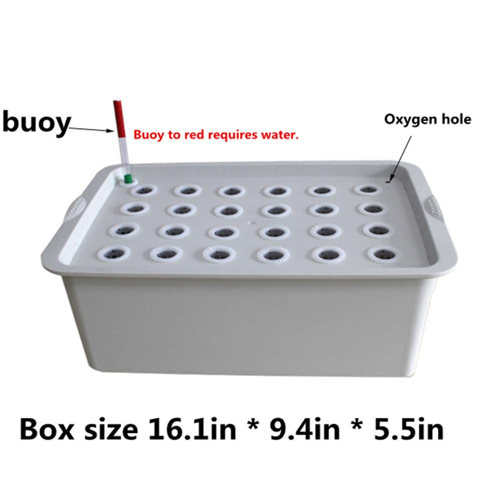 24Holes Hydroponics Grower Kit,Propagation, and Hydroponic Experiment Indoor Outdoor (Gray)