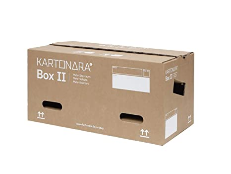 10 Stück stabile Umzugskartons KARTONARA Box II | 2-welliger Umzug Karton Profi mit 47 Liter | in verschiedenen Mengen wählba