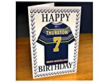 North Queensland Cowboys - PERSONALISED Greetings Card (inc Removable Shirt Shaped Magnet)