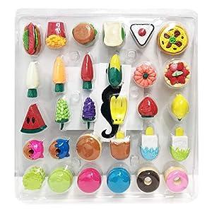 Mr. Pen- Food Erasers, Erasers, 30 Pack, Erasers for Kids, Fun Erasers, Fun Erasers for Kids, Food Erasers for Kids, Fruit Erasers, Kid Prizes, Gifts for Kids, Prizes for Kids Classroom, Pencil Eraser
