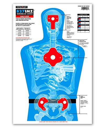 (B27-IMZ Human Silhouette Paper Shooting Targets (12.5