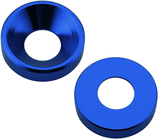 Red, M3 Aluminum M3 // M4 M5 Screws Washers Countersunk Flat Head Bolts Washer Hardware Colourful-Anodized 40-Pack Hobbypark