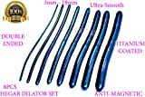 GYNECOLOGICAL Dilator Set ULTRASMOOTH Titanium Coated 8PCS Double Sided Anti Magnetic (CYNAMED)