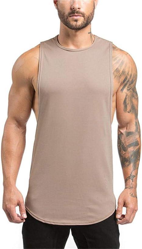 KFBSHEEF Camiseta sin Mangas de algodón sin Mangas para Hombre Camisa Deportiva para Hombres Ropa de Gimnasia Ropa de Entrenamiento Camiseta Baloncesto Running Chaleco Hombres: Amazon.es: Deportes y aire libre