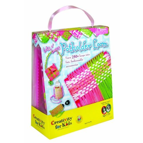 Girls Make your own POTHOLDER, Purse, cupholder etc - Loops and LOOM Kit or Set - Favorite sets for Girl 's of all ages. 250 LOOMS Included by C.F.K. by C.F.K. (Image #1)