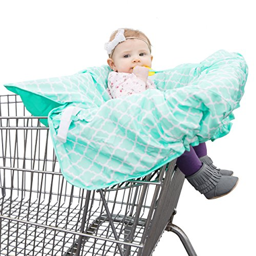 Shopping Cart & High Chair Cover: 2 in 1 Baby Seat Cushion Pad & Germ Protector -