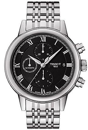 Tissot Carson Automatisch Chronograph Schwarz Zifferblatt Edelstahl Stahl Mens Watch T0854271105300