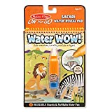 Melissa & Doug On the Go Water Wow! Safari (Reusable Water-Reveal Activity Pad, Chunky-Size Water Pen)
