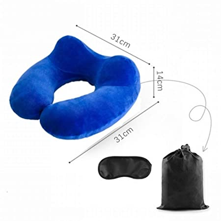 LIZHONGBAO-Travel pillow Material en Forma de U Almohada de ...