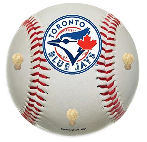 MLB Toronto Blue Jays 15-Inch Baseball Shaped Coat Rack with Full Color Team ()