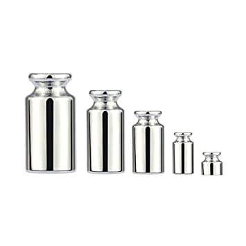 Amazon.com: Hyalo (TM) Scale Weight 1g 2g 5g 10g 20g Chrome Plating Calibration Gram Scale Weight Set for Digital Scale Balance balanza bascula: Home & ...