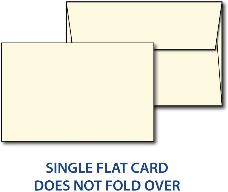 """Heavyweight Blank Cream 5"""" X 7"""" Cards with Envelopes - 100 Cards & Envelopes"""