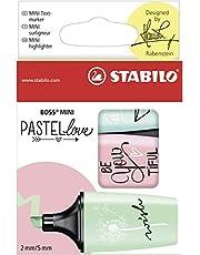 STABILO Highlighter - BOSS Mini Pastellove Wallet
