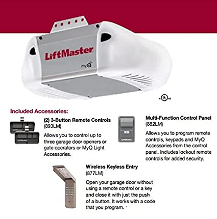 liftmaster 8365 267 premium series 1 2 hp ac chain drive garage door
